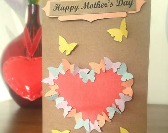 Butterfly 3D Mother's Day card