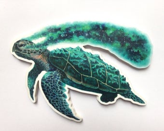 Cosmic Turtle Sticker *LARGE*