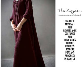 The Juliana Dress/Renaissance Faire Attire Peasant Girl Gown/Historical Roman Viking Medieval Garb Costume Chemise/The Kingdom