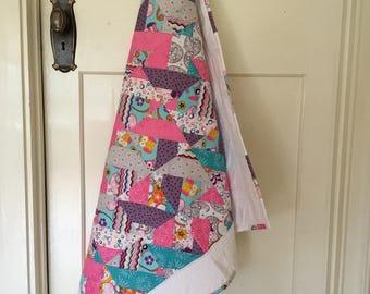 Handmade Pram Quilt, Basinet Quilt, Baby Girl Quilt, Baby Blanket,