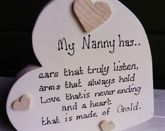 Chunky wooden heart