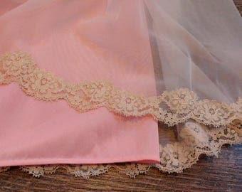 Vintage Nightgown Pink Lace Negligee