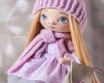 "Textil doll ""Schoolgirl"""
