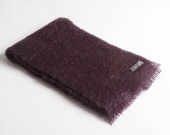 Blackberry Mohair Scarf