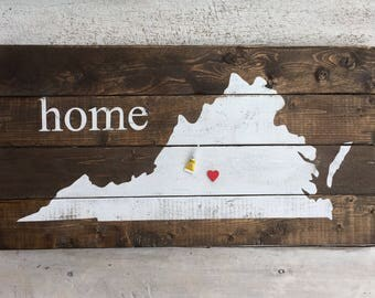 State wood sign / Virginia home wooden sign / wood sign/ wall decor / home decor /