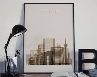Dusseldorf Art Watercolor Dusseldorf Wall Art Multicolor Dusseldorf Skyline Wall Decor Dusseldorf Poster Home Decor Dusseldorf Print Germany