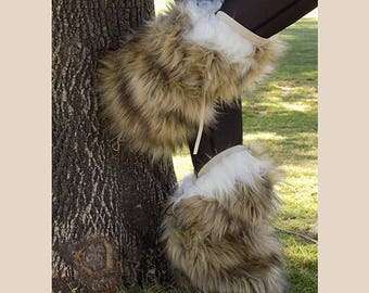 Faux Fur Boot Covers, Fully Customizable, Satin Lined, Fun, Frisky, Leg Warmers