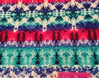 Colorful Aztec DBP | Double Brushed Poly| Poly Spandex | Stretchy Knit Fabric | S&H INCLD