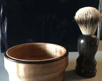 Shaving brush and bowl