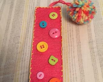 Cute felt bookmark