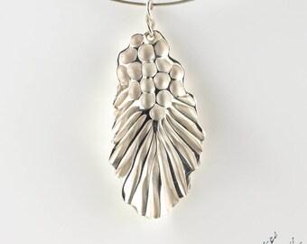 "Pendant in Sterling Silver ""Seaweed PE2"" height 45mm - by IrisBiu. Jewelry handmade in France."