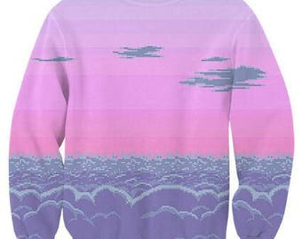 シ Vaporwave AESTHETIC Pixel Dreams Jumper Sweater シ