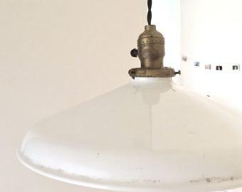 Vintage porcelain hanging pendant lamp