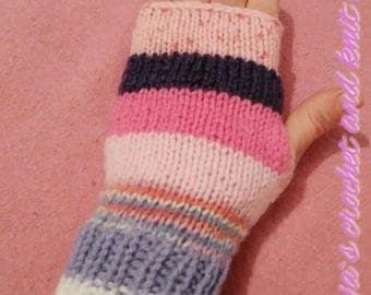 SALE Two pairs of arm warmers in your choice for 20dollars Multicoloured knitted fingerless gloves,arm warmers