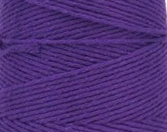 Cotton Yarn MiraYarn 400 g/240 m # 2 or Baba # 8 Purple Twine Baker's Twine Cotton Crochet Thread