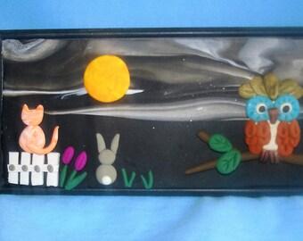 Moon Worshippers, kitty, cat, bunny, owl, moon, gift