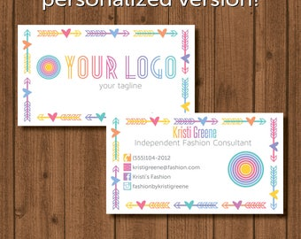 Home Office Approved Fonts and Colors Business Card Fashion Retailer