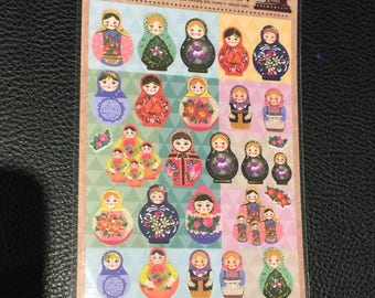 Matryoshka Russian Doll Stickers