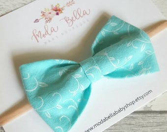 Baby Headband, Baby Bows, Bows, Newborn Bow, Hair Bows, Hair Accessories, Newborn Headband, Infant Headbands, Girl Headbands, Turquoise bow
