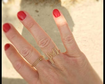 "Twisted ring goldfilled 18-carat ""folk"""