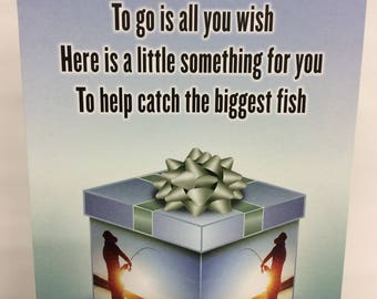 Fishermans Gift Card Holder. Fathers Day Gift Card holder. Birthday Gift Card Holder. Holiday Gift Card Holder. Gift Card Holder. Great Gift