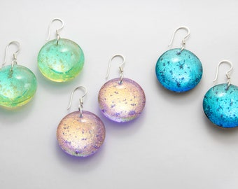 Deluxe Dichroic earrings