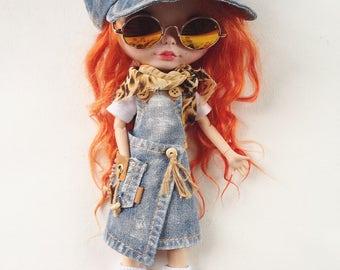 Denim sundress  - Blythe clothes - Blythe outfit