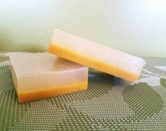 Tangerine grapefruit layered bar soap
