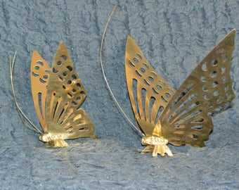 Butterfly Wall Decorations - Brass