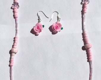 Spring Bouquet necklace/earring set