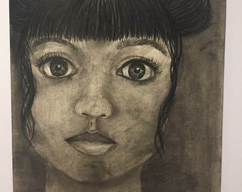 Untitled- Charcoal Drawing