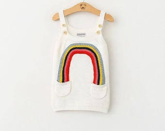 Knit Rainbow Dress