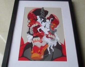 Eva 02 / Rei ayanami Gorgeous Framed art Work | Neon Gensis Evangelion