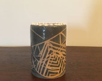 Black Abstract Cylinder