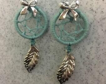 Blueberry Bow Dream Catcher Earrings