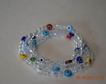 Beaded Bracelet with colorful accent beads
