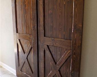 British brace barn door room divider made to order from for Barn door room divider