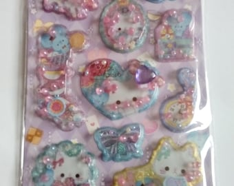 Super Cute Kawaii Stickers 3D with beads Cats
