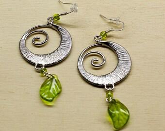 Swirl Dangle Earrings