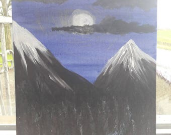 Mountains in the moonlight