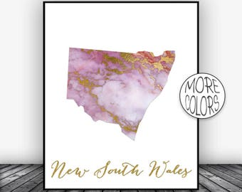 New South Wales Art Print, Home Decor, New South Wales Map Art, Wall Prints, Wall Art Home Wall Decor Living Room Decor, ArtPrintsZoe