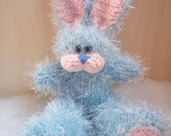 25 cm Blue Rabbit Knitted Soft Toy