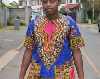 Dashiki shirt, men's dashiki shirt