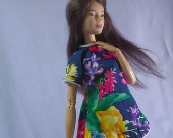Barbie clothes: simple cute mini floral dress