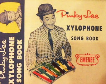 Pinky Lee Xylophone Song Book - Emenee Musical Toys - Vintage Paper Ephemera - 1955 - Collectible Music Paraphanalia - Nice Musician Gift