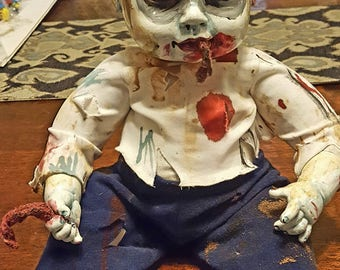 Zachary Zombie one of a kind living dead baby doll/ Creepy doll/ Walking Dead Baby/ OOAK/ Frights