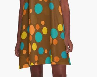 Retro Dress, Womens Gift, Dress, Summer Dress, Party Dress, , XL Dress, Retro, Mini Dress, Mod Dress, Casual Dress, A- line Dress,