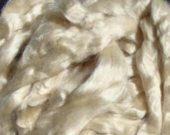 Bleached Tussah Silk Rovings