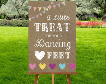 A4 Kraft Bunting Dancing Feet Sign