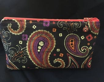 Paisley Zippered Pouch